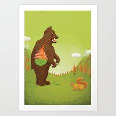 The Vegetarian Bear Art Print