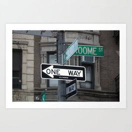 Between Mulberry and Broome Streets - NYC Art Print