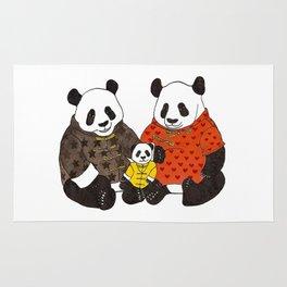 The panda family Rug