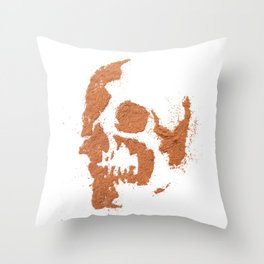 149. Cocoa Stencil Skull Throw Pillow