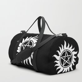 Anti Possession Sigil White Duffle Bag