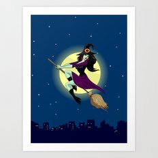 Wicked Flight! Art Print