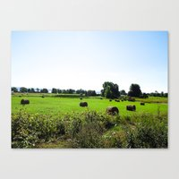 vermont Canvas Prints featuring VERMONT by TechkyDude