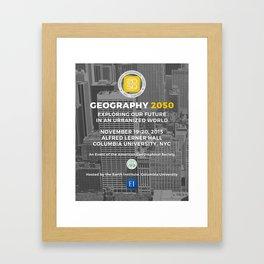 Geography 2050 Commemorative Poster Framed Art Print