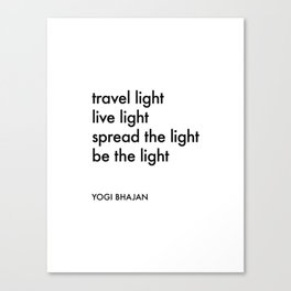 Be the Light Canvas Print