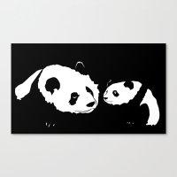 pandas Canvas Prints featuring Pandas by Elena Medero