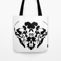 rorschach Tote Bags featuring Rorschach  by yayanastasia