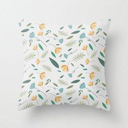 spring flowers patterns Throw Pillow