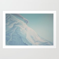 Underwater Swimmer Ethereal Abstract Film Photograph Summer Print Art Print