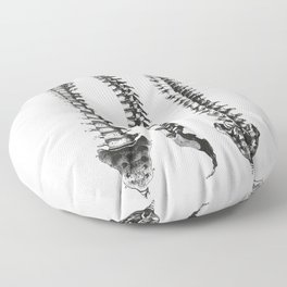 Bone column Floor Pillow