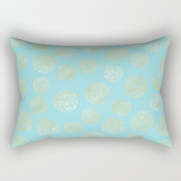 Golden Balls Rectangular Pillow