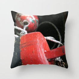 Nautical Crabbing Buoy Throw Pillow