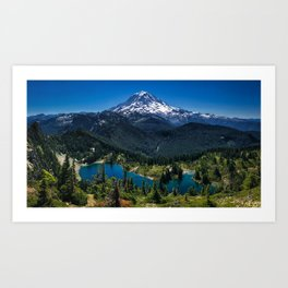 Tolmie Peak Mt Rainier Eunice Lake Art Print