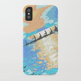 Rowing at dawn iPhone Case