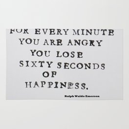 Happiness Ralph Waldo Emerson Quote Rug
