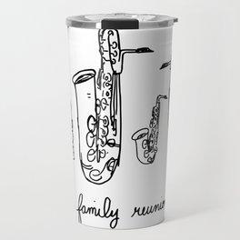Saxophone Family Reunion Travel Mug