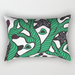 Alga with sea stars and coral Rectangular Pillow