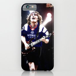 RangersStruck,  Angus Young in colour iPhone Case