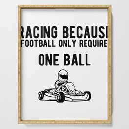 Funny Gokart Racing Car Driver Graphic Serving Tray