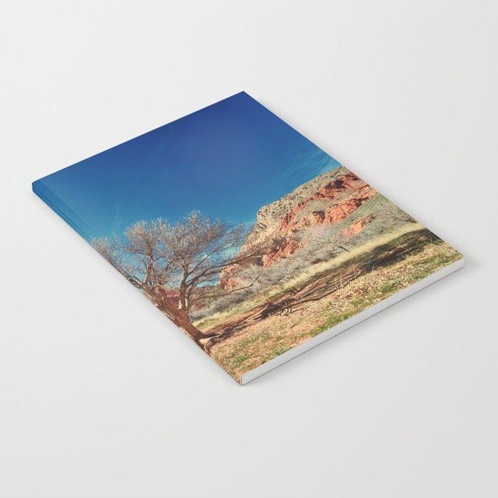 Sun desert tree Notebook