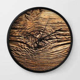 Woodgrain Wall Clock