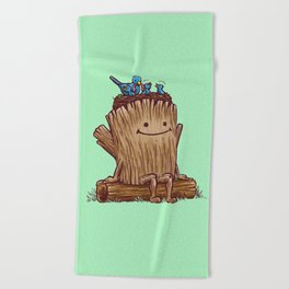 Good Day Log's Bird Nest Beach Towel