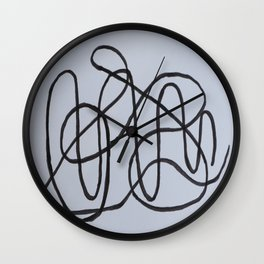 Wiggly Line Wall Clock