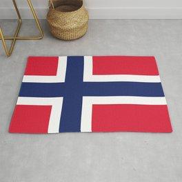 Norway flag emblem Rug