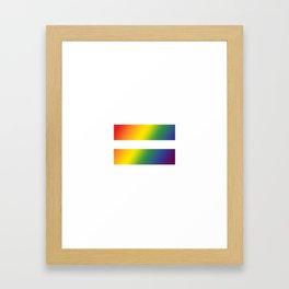 Pride\\Equality Framed Art Print