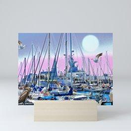 Stretching High Mini Art Print