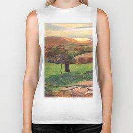 """Paul Gauguin """"Landscape from Bretagne"""" Biker Tank"""