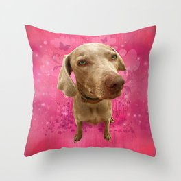 PARKER POSEY (strawberry) puffy cloud series Throw Pillow