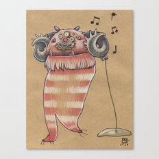 MUSIC MONSTER Canvas Print
