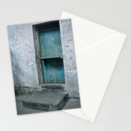 What's behind the old blue door? Stationery Cards
