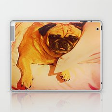PUG LOVE: Will you bring me breakfast in bed? Laptop & iPad Skin