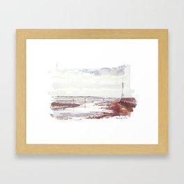 Entrée du Port du Pouliguen Framed Art Print