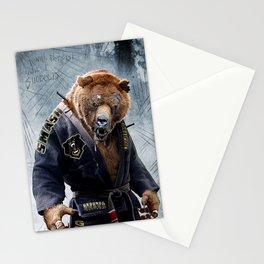 Jiu Jitsu Grizzly Stationery Cards