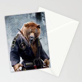 Jiu Jitsu Grizzly Stationery Cards