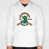 quidditch Hoodies featuring Slytherine quidditch team captain by JanaProject