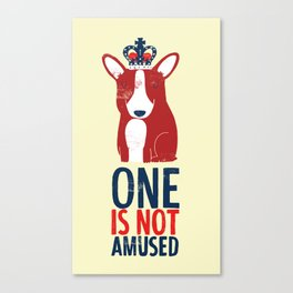 One is not amused Canvas Print