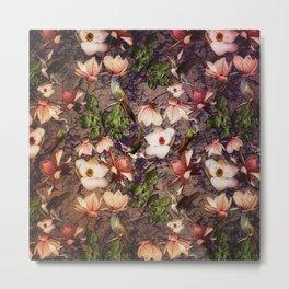 Magnolias and Hummingbirds Metal Print