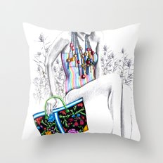 Tropic relief Throw Pillow