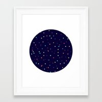constellations Framed Art Prints featuring Constellations by Jenna Mhairi