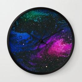 Space Marble Liquid v8 Wall Clock