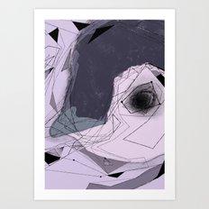 blue penguin Art Print