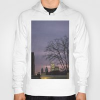 skyline Hoodies featuring skyline by Amanda Stockwell