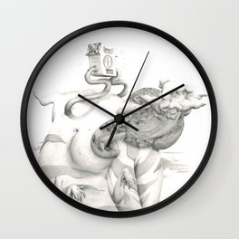 snail trail Wall Clock