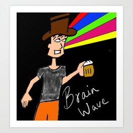Brain Wave Art Print