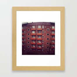 Copenhagen Flats Color Framed Art Print