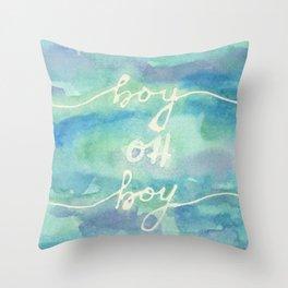 Boy Oh Boy Throw Pillow